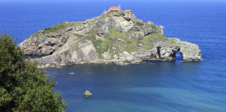 Promontoire de San Juan de Gaztelugatxe image stock