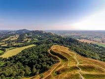 Promontoire du nord de camp britannique, collines malvern Photographie stock libre de droits