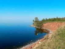 Promontoire sur le lac images libres de droits
