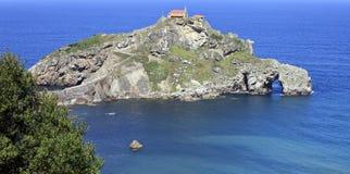 Promontorio de San Juan de Gaztelugatxe Imagen de archivo