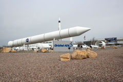 Promontorio orbital Rocket Garden del ATK Fotografía de archivo