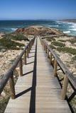 Promontory adjacent to Bordeira Beach, Algarve, Portugal Stock Photography