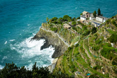 Promontory at Manarolo, Cinque Terre, Italy Royalty Free Stock Photo