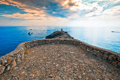 Promontory overlooking the sea Stock Photography