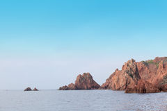 Promontory - rocks, sea and sky Royalty Free Stock Images