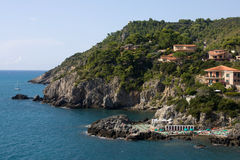 Promontory On The Sea. Travel Series - Italy. Promontory on the sea, Talamone, Tuscany Royalty Free Stock Photo