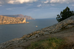 Promontory in the sea Royalty Free Stock Images