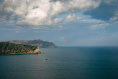 Promontory in the sea Stock Photography
