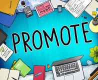 Promote Marketing Plan Commercial Promotion Concept Royalty Free Stock Photo