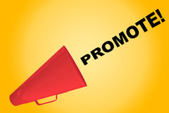Promote! - motivational concept Stock Image