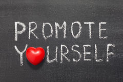 Promote yourself Stock Image
