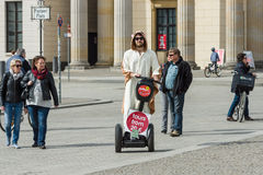 Promoter tours on Segway Stock Photography
