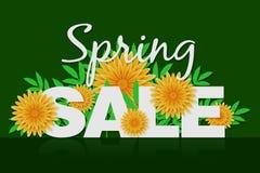 Promotie de bannerachtergrond van de de lenteverkoop met kleurrijke bloem Kan voor malplaatje, banners, vliegers, affiches, speci royalty-vrije illustratie