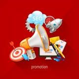 Promotie en marketing technologieën royalty-vrije illustratie