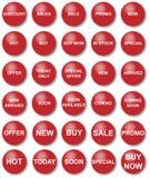 Promotie korting - tekst Royalty-vrije Stock Foto's