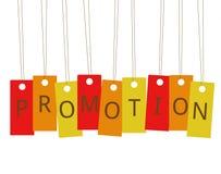 Promotion accrochante de labels Image libre de droits