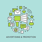 Promotion and Advertising Process Stock Photography