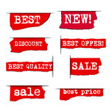 Promotion advertising stickers Stock Photography