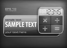 Promotion banner & calculator Royalty Free Stock Photography