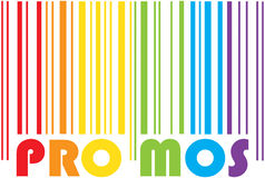 Promotion bar code. Colorful promotion bar code on white Royalty Free Stock Image