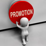 Promotion Button Shows New And Higher Role Royalty Free Stock Photography