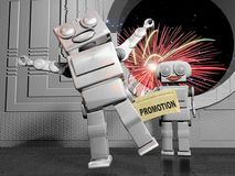 Promotion celebrations Royalty Free Stock Photography