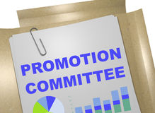 Promotion Committee concept. 3D illustration of PROMOTION COMMITTEE title on business document Royalty Free Stock Images