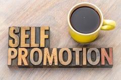 Promotion d'individu - exprimez le résumé dans le type en bois photo libre de droits