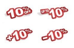 promotion de 10 pour cent Images stock