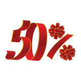 promotion de 50 pour cent Images libres de droits