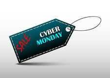 Promotion de conception de bannière de labels de lundi de Cyber Photos stock