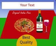 Promotion de pizza Photographie stock libre de droits