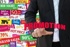 Promotion de vente de concept d'affaires Photo stock