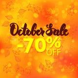 Promotion des ventes d'octobre Images libres de droits