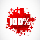 100% promotion. Destockage 100% promotion abstract background Royalty Free Stock Images