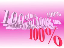 Promotion Discount 100%. Promotion Discount of 100 hundred percent stock illustration