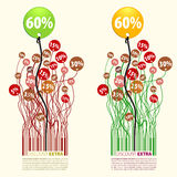 Promotion Discount Extra 60 Percent Stock Images