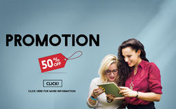 Promotion Discount Price Tag Campaign Concept Stock Images