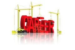 Promotion du travail de construction de carrière Photos stock