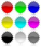 Promotion empty glossy labels set Royalty Free Stock Images