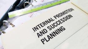 Promotion et planification de la relève internes photos libres de droits