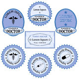 Family doctor badge stock vector illustration of blank for Dr name tag template