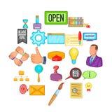 Promotion icons set, cartoon style. Promotion icons set. Cartoon set of 25 promotion vector icons for web isolated on white background Royalty Free Stock Photo