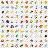 100 promotion icons set, isometric 3d style Stock Photography