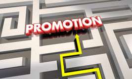 Promotion Job Raise Career Advancement Maze Photographie stock