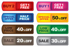 Promotion labels Royalty Free Stock Photography