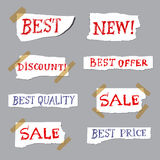 Promotion labels Royalty Free Stock Image