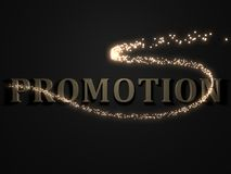 PROMOTION from metal letters Royalty Free Stock Photos