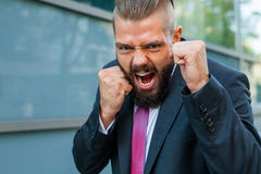 This promotion is mine! Positive emotions. Royalty Free Stock Images