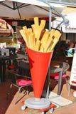 Promotion pour des pommes frites, Allemagne, l'Europe photographie stock